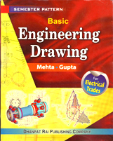 + Basic Engineering Drawing for Electrical-(English) + Dhanpatrai Books