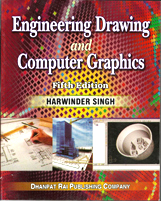+ Engineering Drawing & Computer Graphics + Dhanpatrai Books