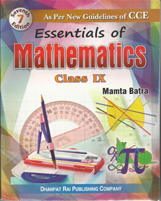 + Essentials of Mathematics-IX - CCE + Dhanpatrai Books