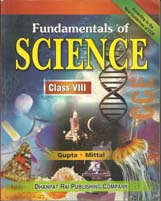 Class VIII + Fundamental of Science-VIII- CCE + Dhanpatrai Books
